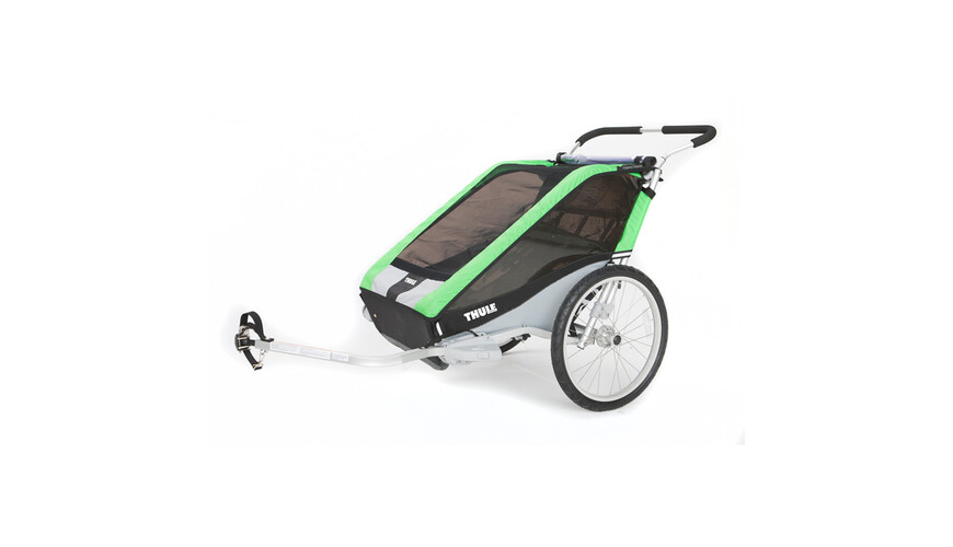 Thule Cheetah 2 - Remorque enfant + kit vélo - vert